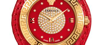 Часы V-Signature Christmas Edition (красные) от Versace