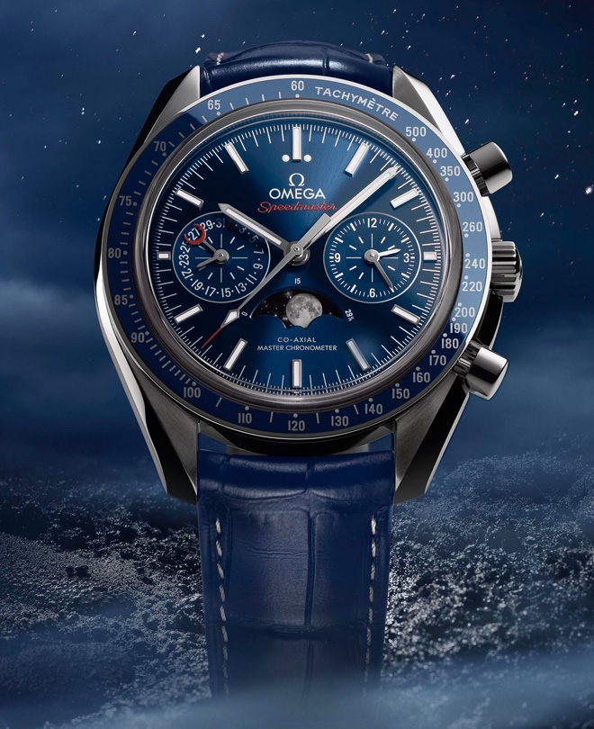 Часы Speedmaster Moonphase Chronograph Master Chronometer от Omega